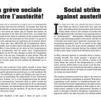 Social strike against austerity!