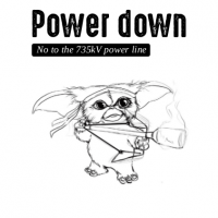 POWER DOWN – No to the 735kV power line
