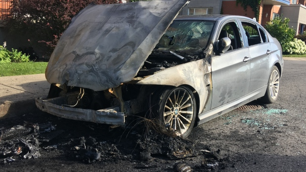 Arson of two luxury cars in St-Henri