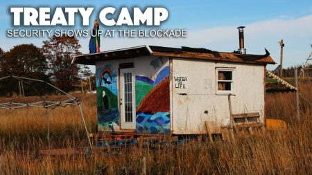Treaty Camp: Security Shows Up at the Blockade