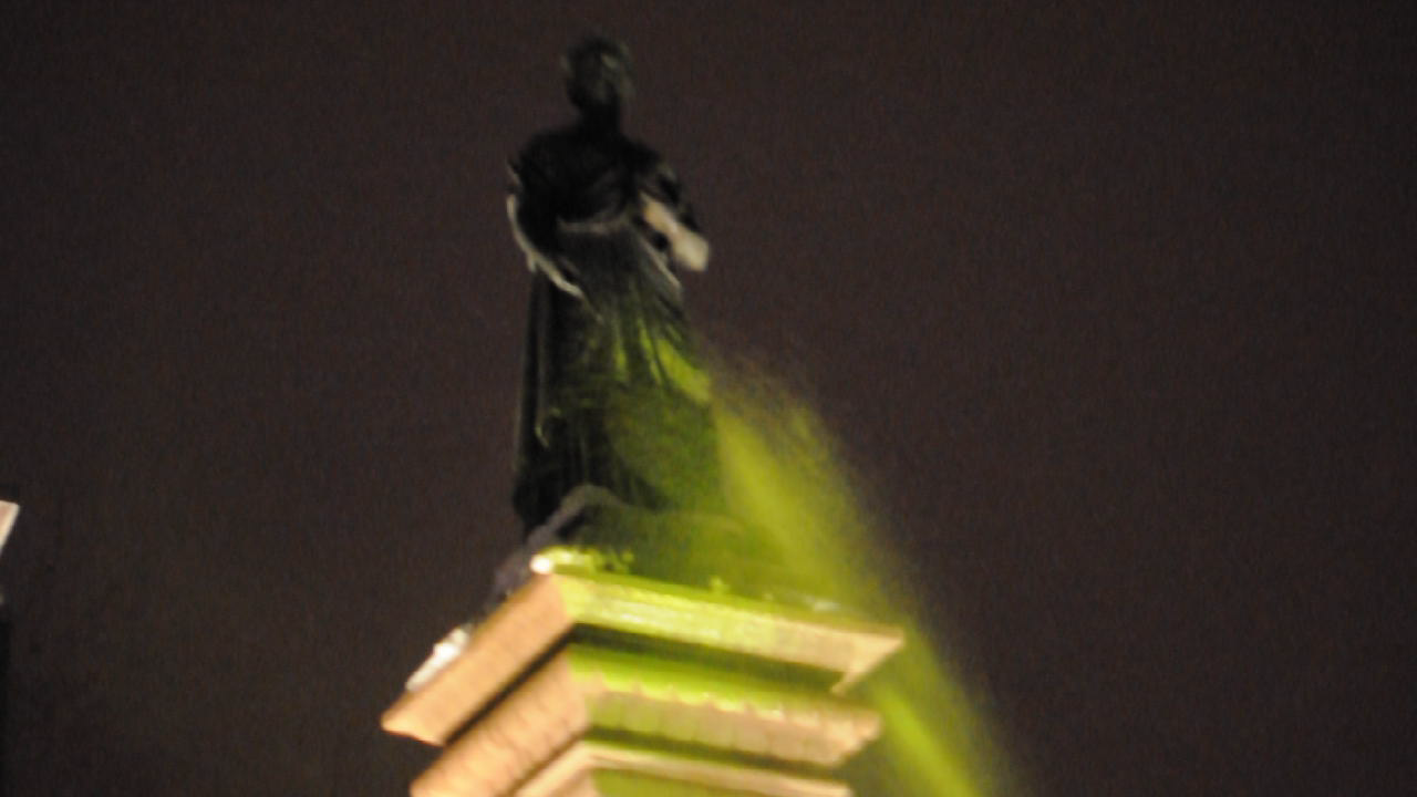 Two Queen Victoria statues vandalized with green paint