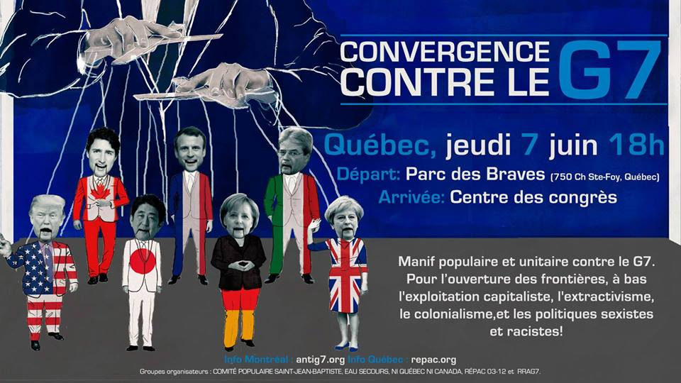 June 7th Protest: Mass demonstration against the G7 and to open the borders!