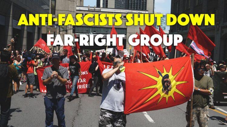Anti-Fascists Shut Down La Meute