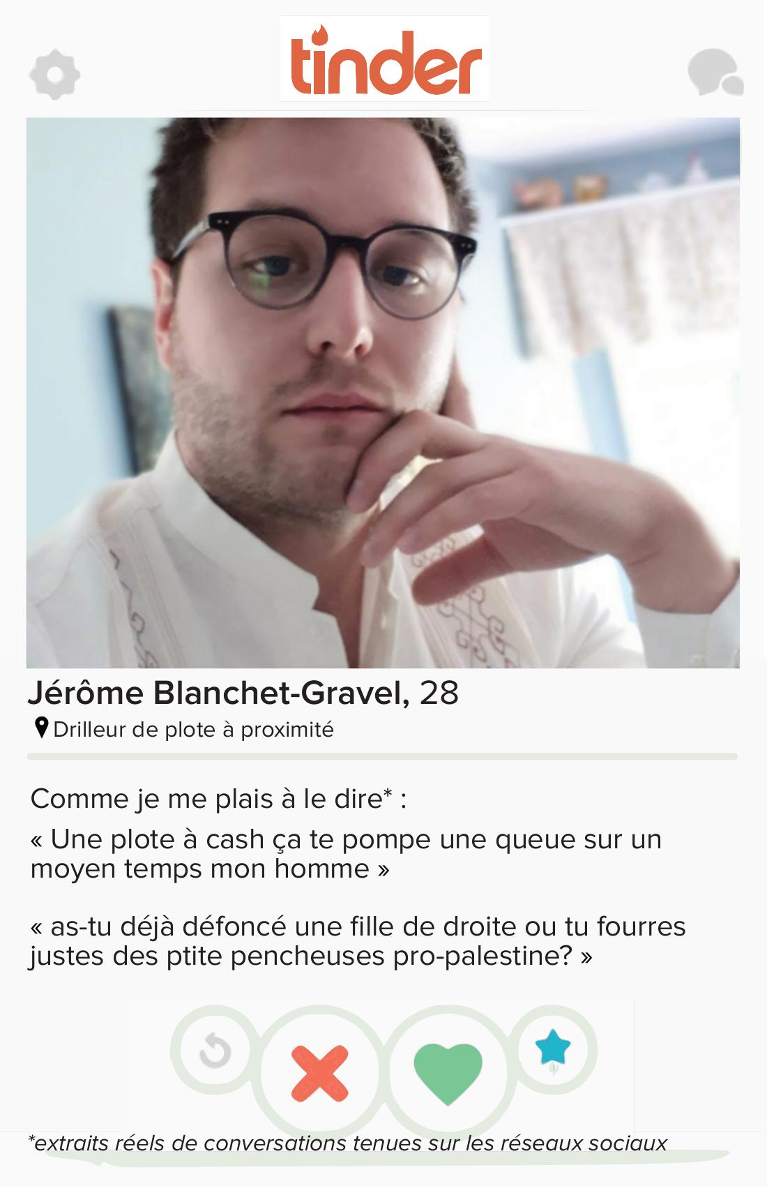 Postering against Jérôme Blanchet-Gravel