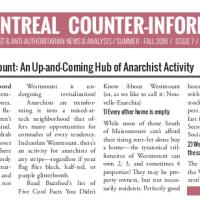 Montreal Counter-Info #7 (Summer-Fall 2018)