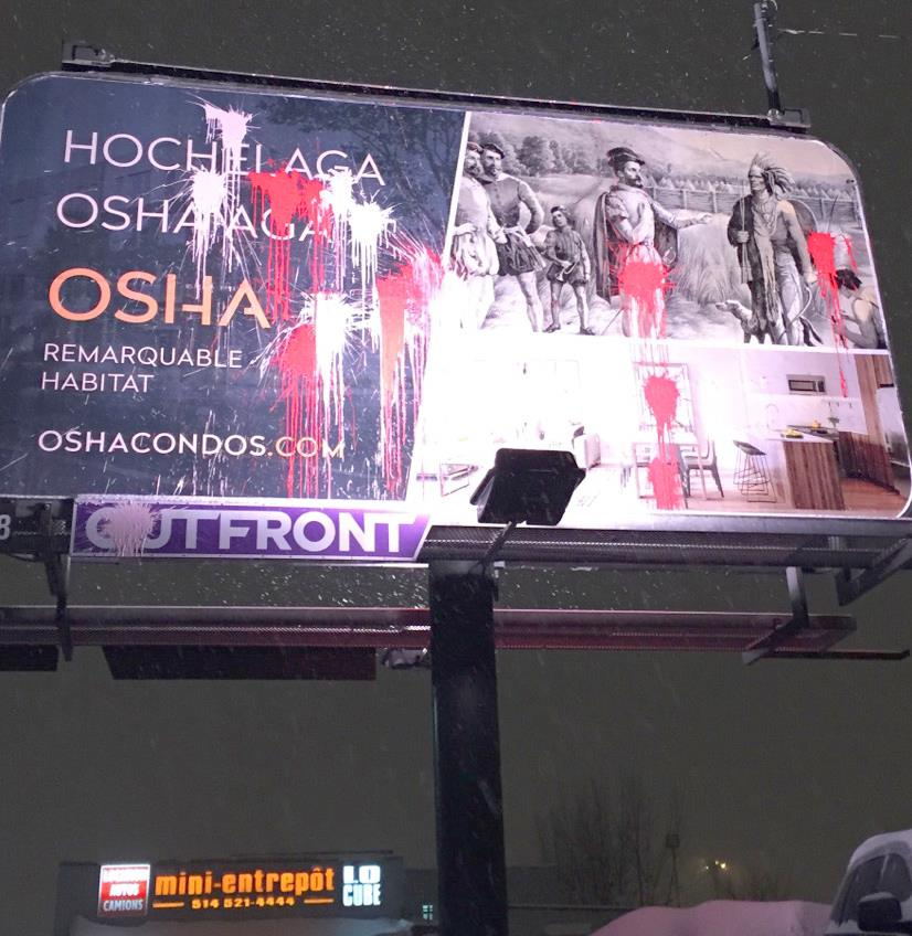 Attacks against OSHA Condo Advertising Billboards
