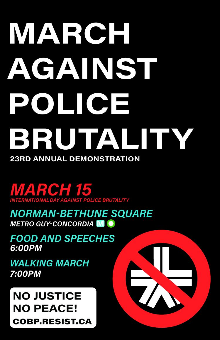 Callout for the March Against Police Brutality 2019