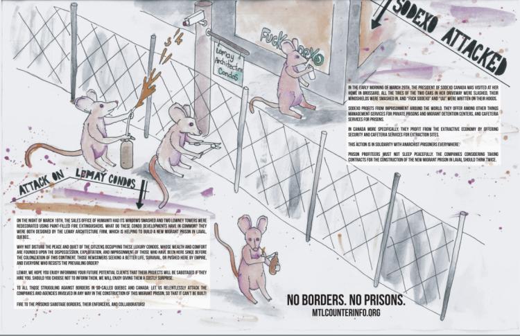 No Borders, No Prisons : New Communiqué Poster