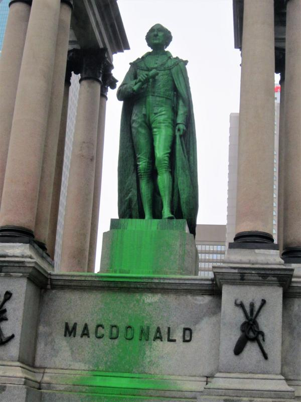 Macdonald Monument & Queen Victoria Statue Vandalized Again in Montreal