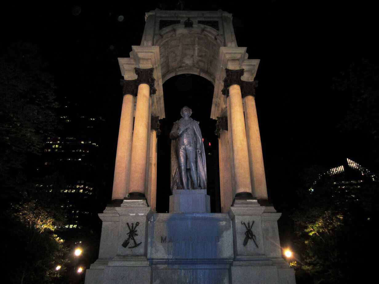 After Amherst, it's Macdonald's Turn! John A. Macdonald Statue Vandalized Again