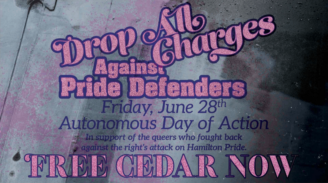 Solidarity with Pride Defenders, Free Cedar!