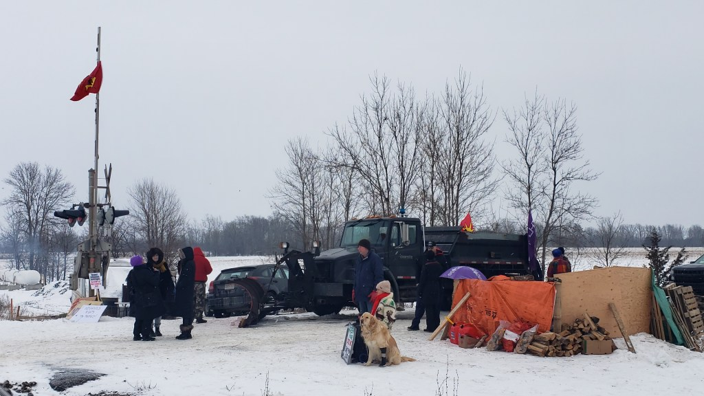 Injunction Served and Burnt at Tyendinaga Rail Blockade as Numbers Grow