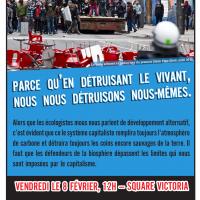 "Demonstration against ""Plan Nord"""