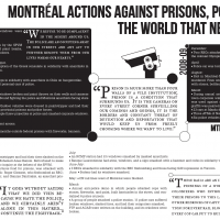 Montreal actions against prisons, police, and the world that needs them