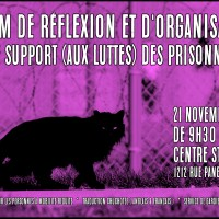 Forum of reflection and organization for the support (of the struggles) of prisoners
