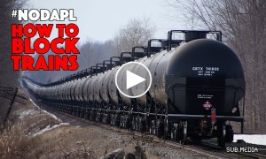 Solidarity with #NODAPL: How to block trains
