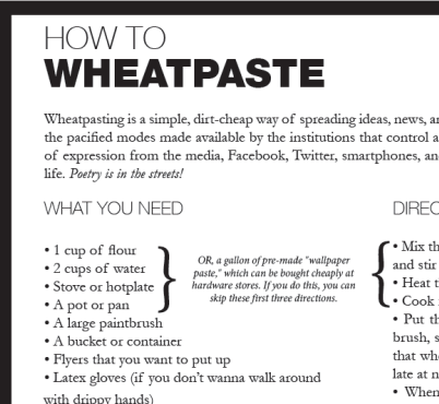 How To: Wheatpaste