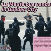 La Meute bus vandalized in Quebec City
