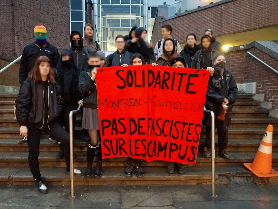 Solidarity with Montpellier: No fascists on campus