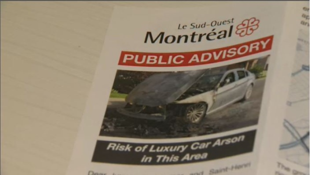Public Advisory in Saint-Henri: Risk of Luxury Car Arson