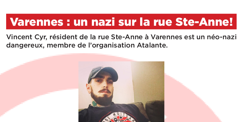 Varennes: An Atalante Nazi on Rue Sainte-Anne