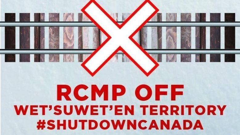 Solidarity Blockade Underway in Hamilton