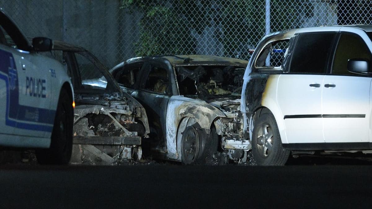 Arson of 7 Police Cars at SPVM Service Garage