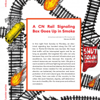 A CN Rail Signaling Box Goes Up in Smoke
