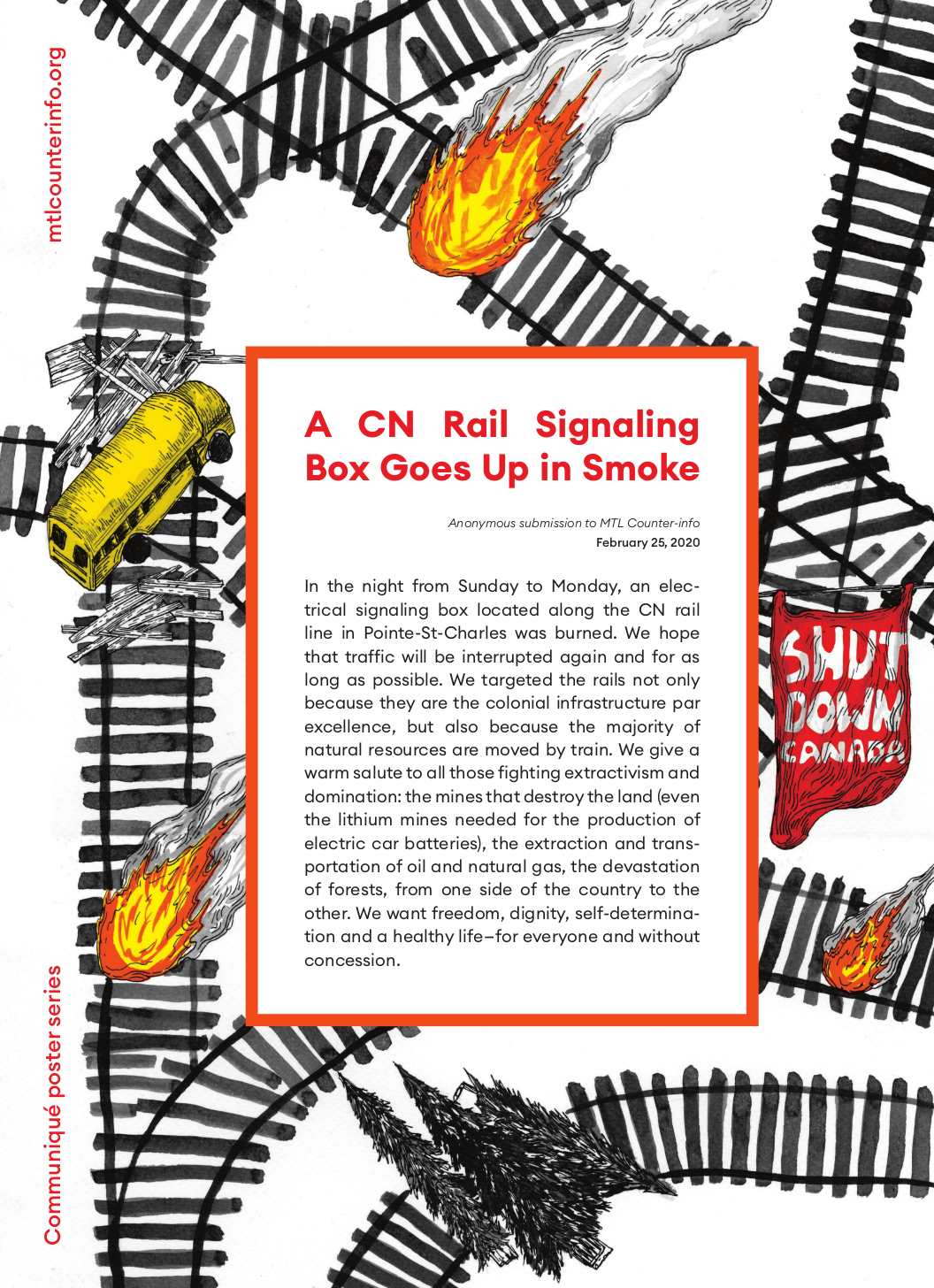 A CN Rail Signaling Box Goes Up in Smoke