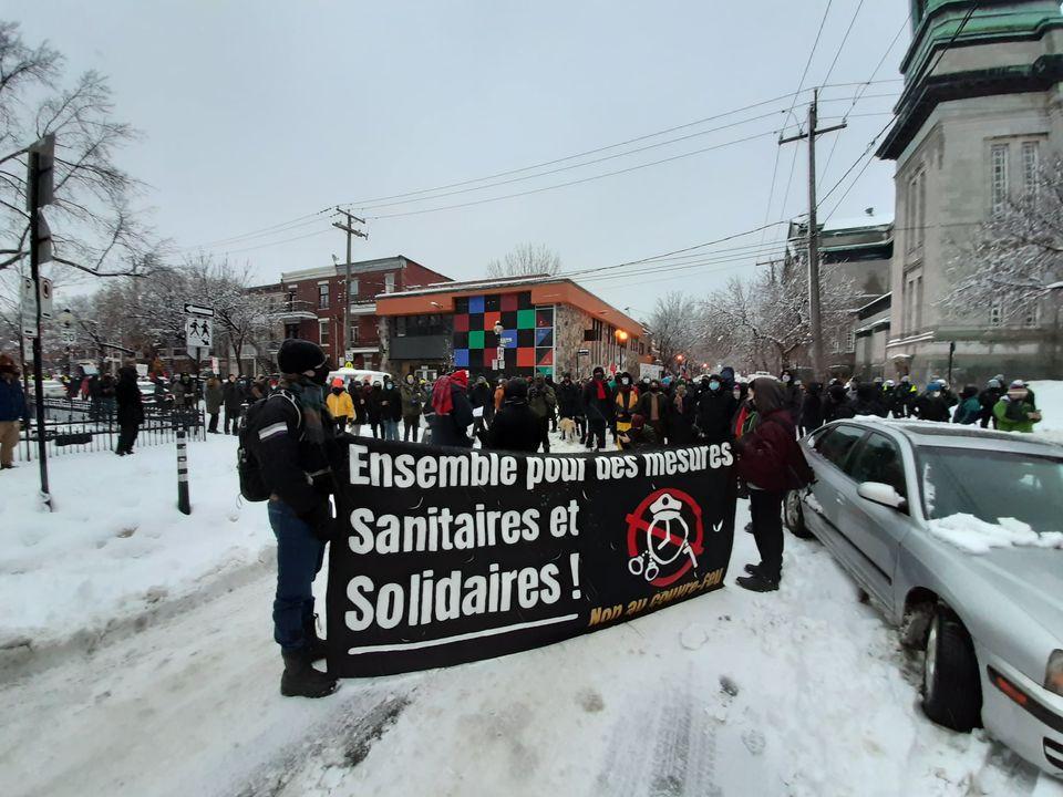 Anti-Curfew March Reportback