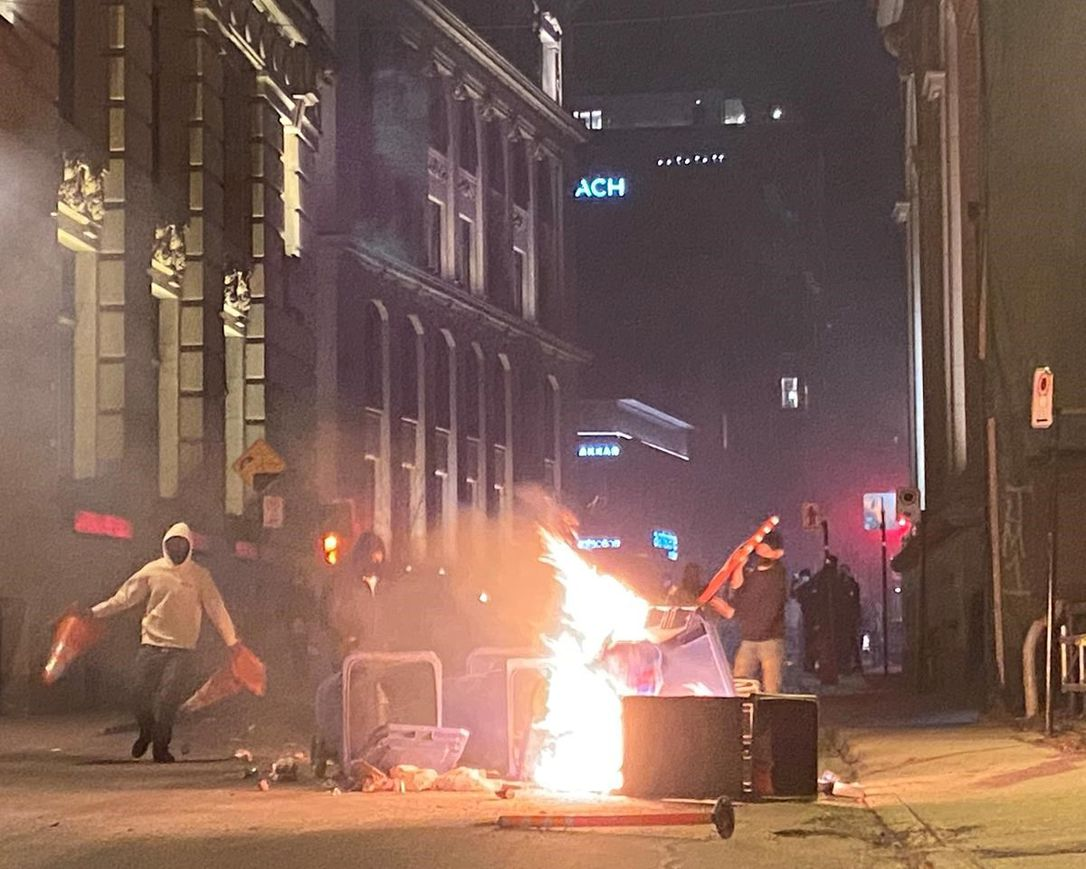 Rioting Against the Curfew!