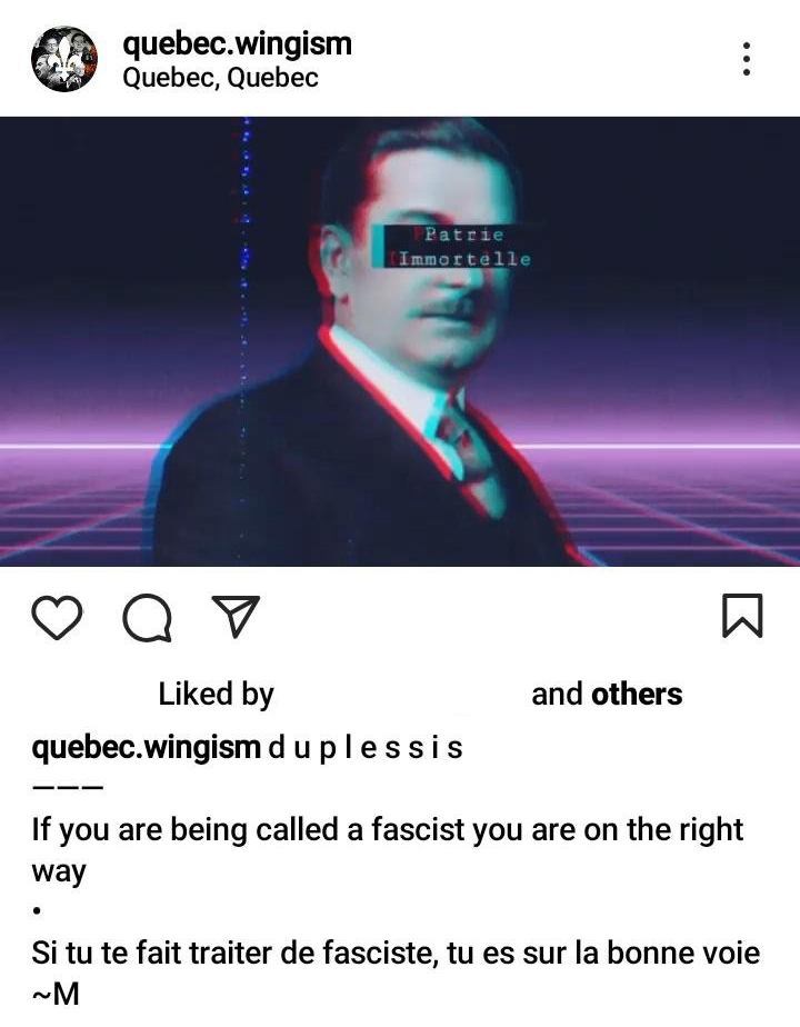 Quebec.wingism and their Hangers-on