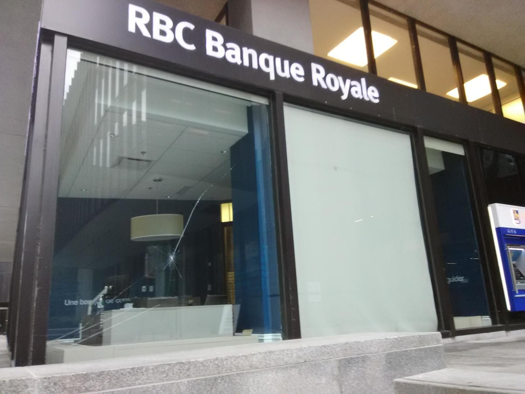RBC Targeted in Solidarity with Wet'suwet'en Land Defenders